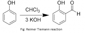 Reimer Tiemann reaction