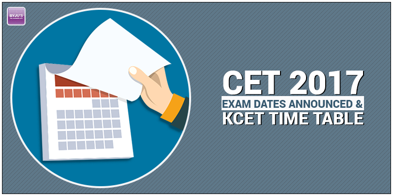 CET Exam Dates 2017