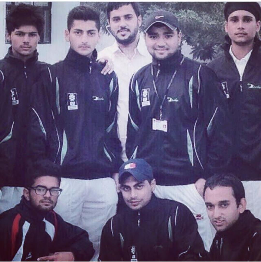 Nomaan with his cricket team
