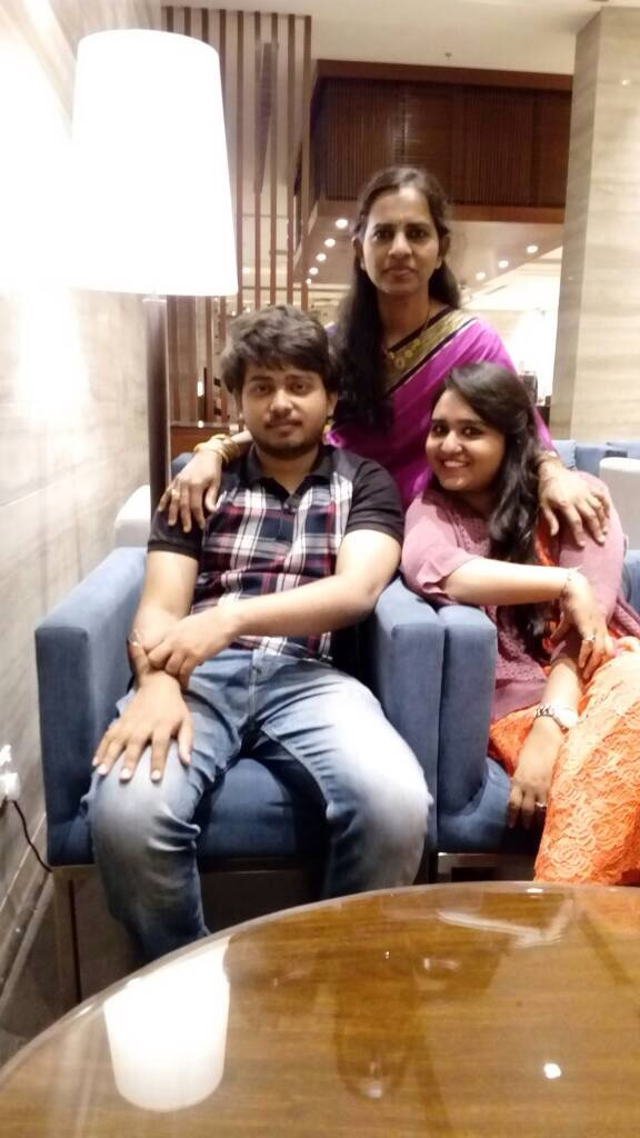 Amulya with her family