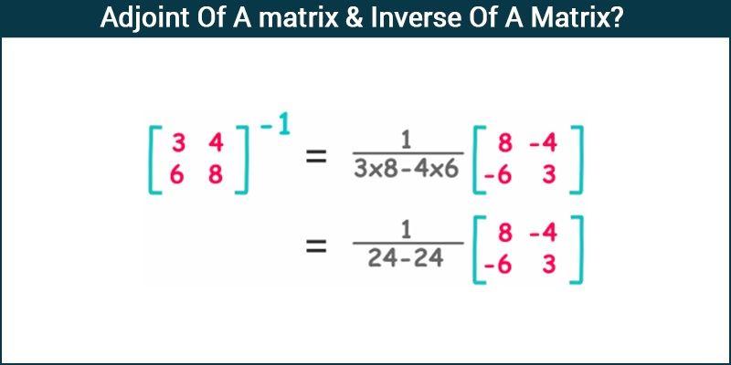 Adjoint - matrix & Inverse Of A Matrix