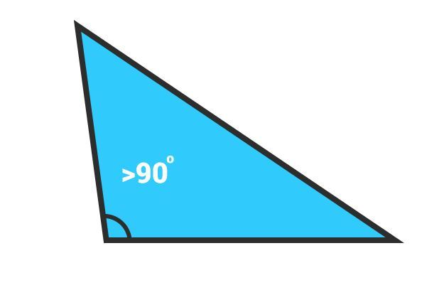 how to draw obtuse angled triangle