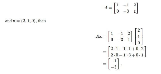 Multiplication Of Matrices Scalar And Vector Rules Examples