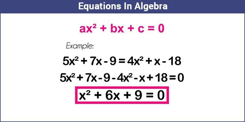 Equations In Algebra