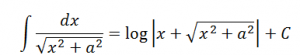Integration Formulas