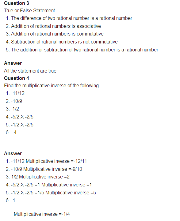 important questions class 8 maths chapter 1 rational numbers 2
