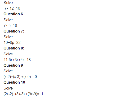 Important Questions Class 8 Maths Chapter 2 Linear Equations One Variable Part 2