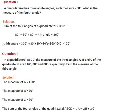 important questions class 8 maths chapter 3 understanding quadrilaterals 1