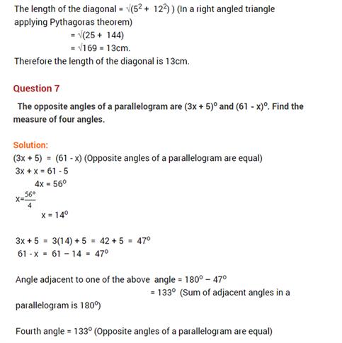 important questions class 8 maths chapter 3 understanding quadrilaterals 6
