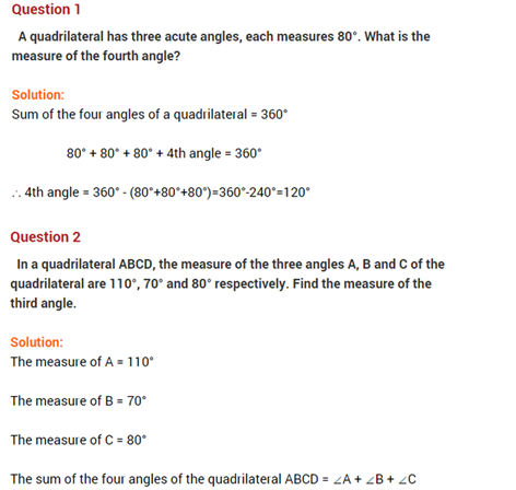 Important Questions Class 8 Maths Chapter 4 Practical Geometry Part 1