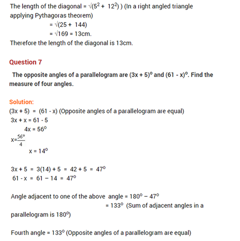 Important Questions Class 8 Maths Chapter 4 Practical Geometry Part 6