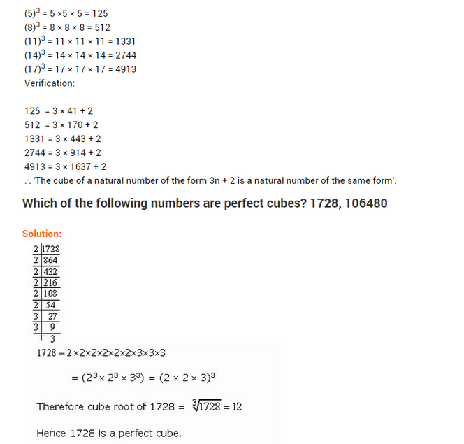 important questions class 8 maths chapter 7 cubes roots 4