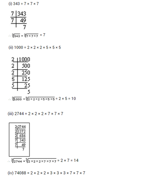 important questions class 8 maths chapter 7 cubes roots 7