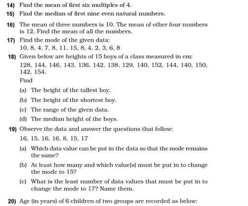 important questions class 8 maths chapter 5 data handling 3