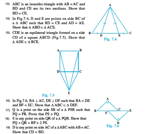 important questions class 9 maths chapter 7 triangles 2