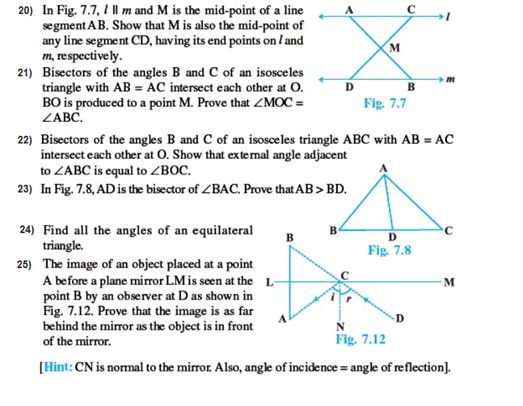 important questions class 9 maths chapter 7 triangles 3