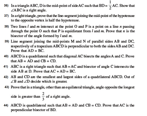 important questions class 9 maths chapter 7 triangles 5