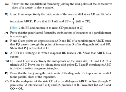 important questions class 9 maths chapter 8 quadrilaterals 6