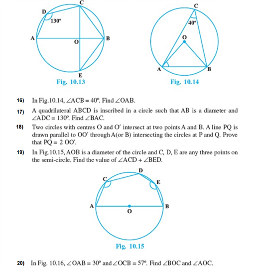 Important Questions Class 9 Maths Chapter 10 Circles Part 2