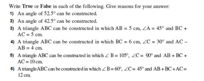 Important Questions Class 9 Maths Chapter 11 Constructions Part 1