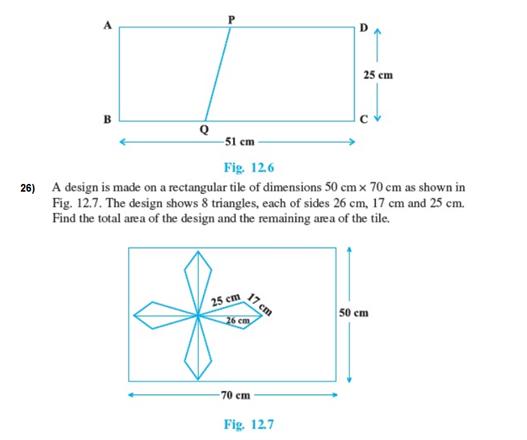 Important Questions Class 9 Maths Chapter 12 Herons Formula Part 5