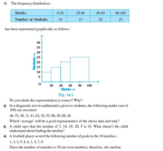 Important questions for class 9 maths Chapter 14 Statistics 1