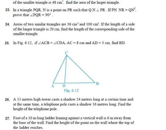 important questions class 10 maths chapter 6 triangles 5