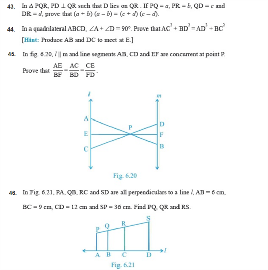 important questions class 10 maths chapter 6 triangles 8