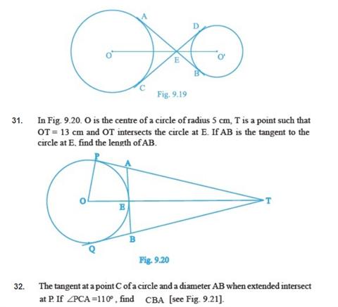 Important Questions Class 10 Maths Chapter 10 Circles Part 5