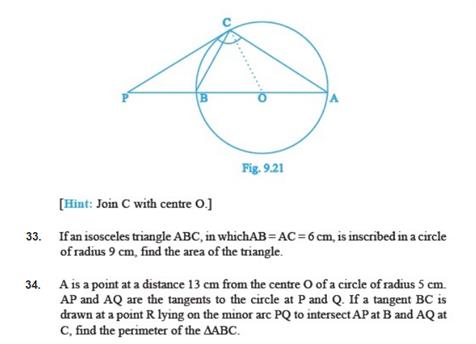 Important Questions Class 10 Maths Chapter 10 Circles Part 6