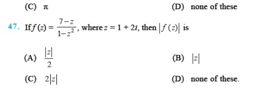 Important Questions Class 11 Maths  Chapter 5 Complex Numbers Quadratic Equations Part 6
