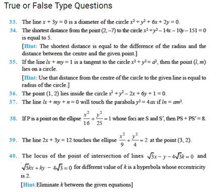 Important Questions Class 11 Maths Chapter 11 Conic Sections Part 4