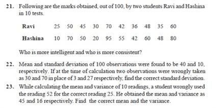 Important Questions Class 11 Maths Chapter 15 Statistics Part 4