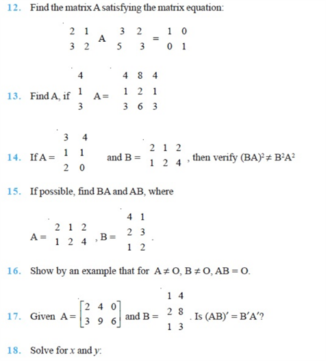 important questions class 12 maths chapter 3 matrices 3