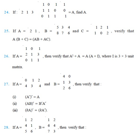 important questions class 12 maths chapter 3 matrices 5