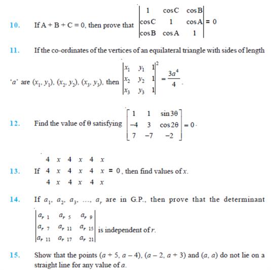 important questions class 12 maths chapter 4 determinants 2