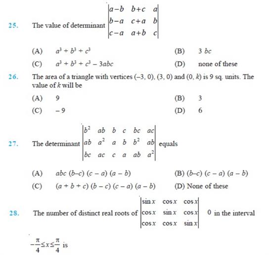 important questions class 12 maths chapter 4 determinants 5