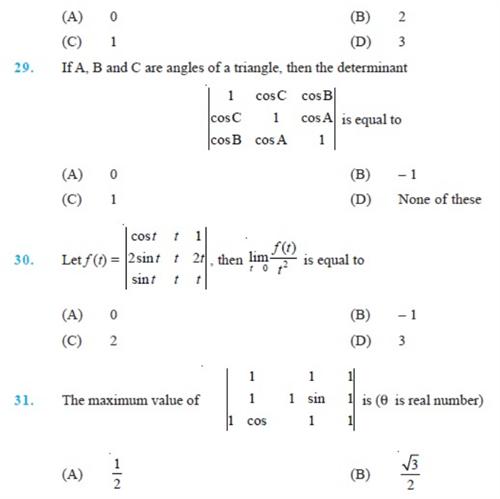 important questions class 12 maths chapter 4 determinants 6
