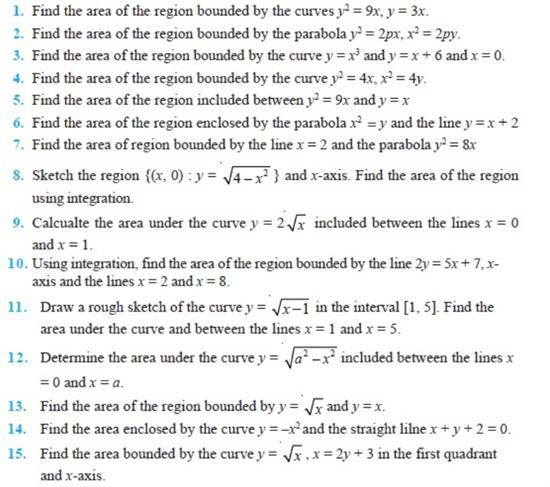 important questions class 12 maths chapter 8 applications integrals 1
