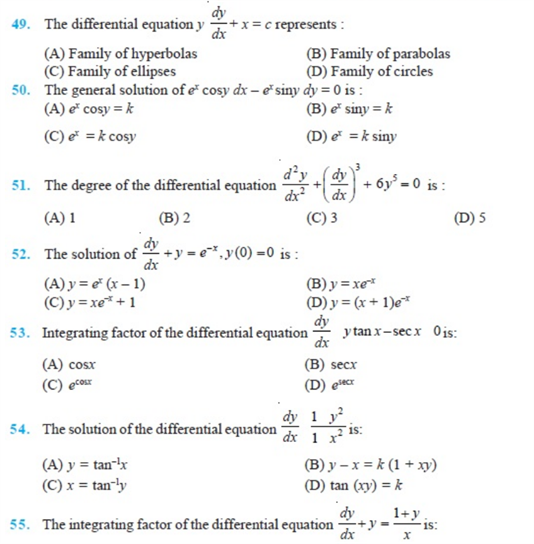 important questions class 12 maths chapter 9 differential equations 7