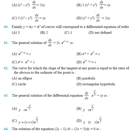 important questions class 12 maths chapter 9 differential equations 9