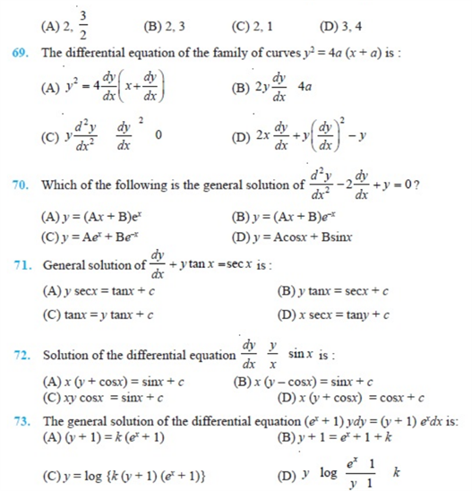 important questions class 12 maths chapter 9 differential equations 10