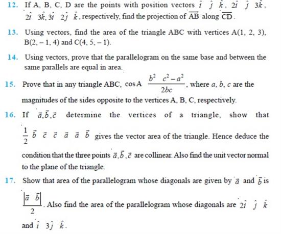 Important Questions Class 12 Maths Chapter 10 Vectors Part 2