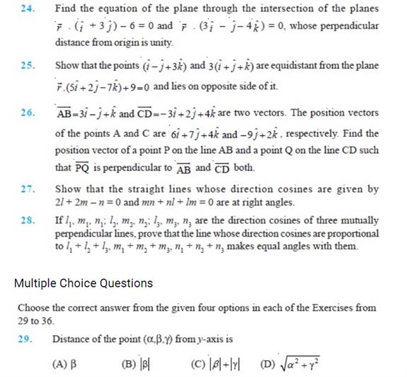 Important Questions Class 12 Maths Chapter 11 Three Dimensional Geometry Part 4