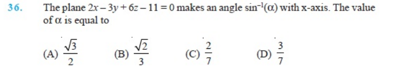 Important Questions Class 12 Maths Chapter 11 Three Dimensional Geometry Part 6