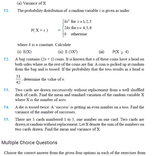 Important Questions Class 12 Maths Chapter 13 Probability Part 9