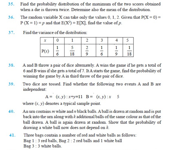 Important Questions Class 12 Maths Chapter 13 Probability Part 6