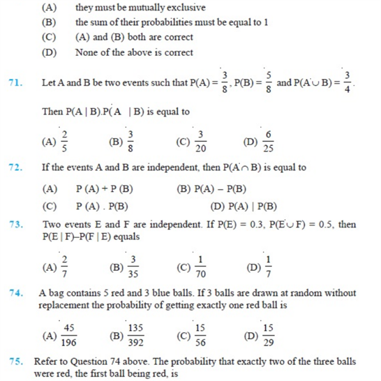 Important Questions Class 12 Maths Chapter 13 Probability Part 13