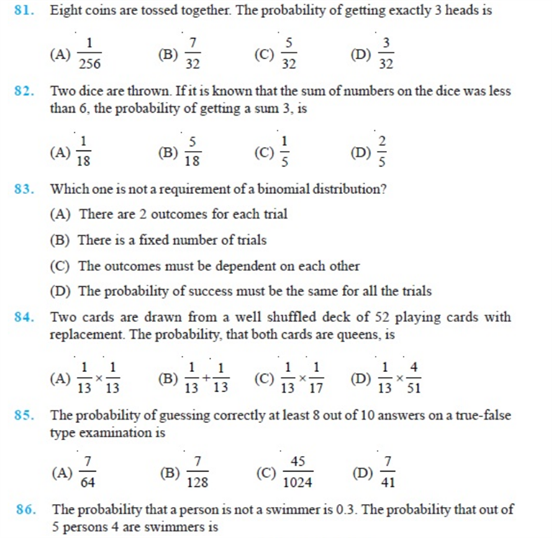 Important Questions Class 12 Maths Chapter 13 Probability Part 15