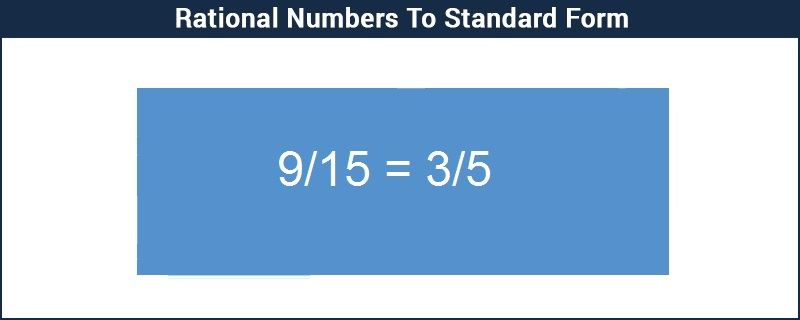 Rational Numbers To Standard Form Procedure Along With Examples